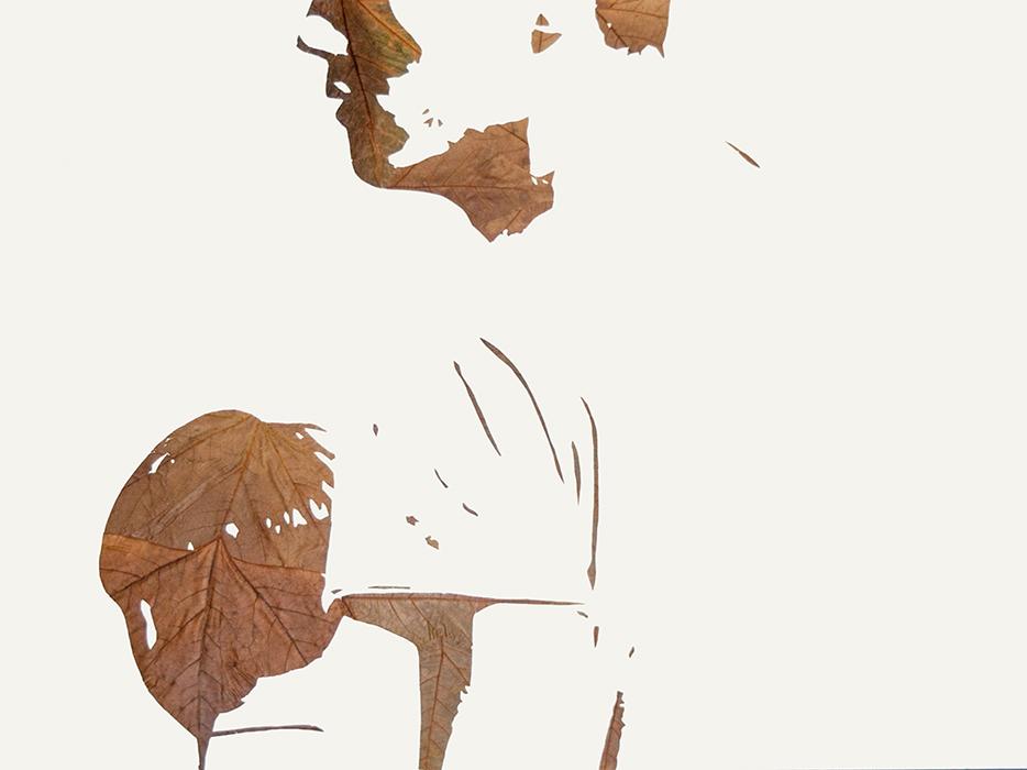 Schönes Licht V | Laub auf Papier | 2016 | 60 x 80 cm