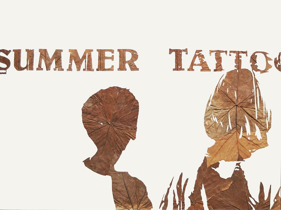 Summer Tattoo | Laub auf Papier | 2015 | 60 x 80 cm