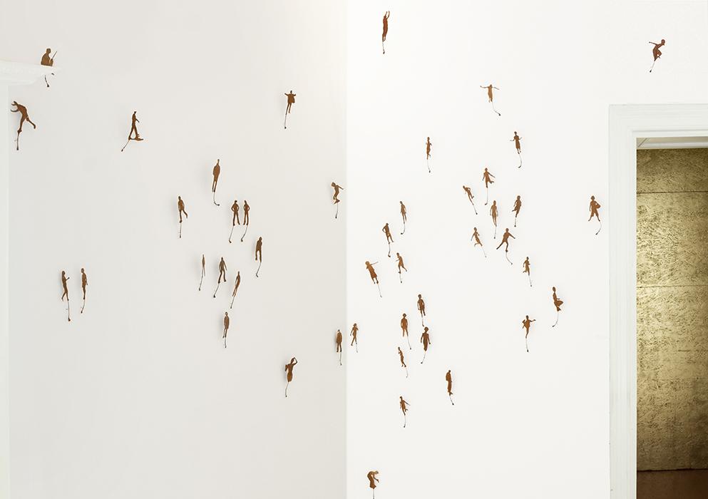 Moment mal | Wandinstallation | 2013 | 290 x 370 cm (Ausschnitt)